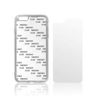 Чехол для IPhone 6+ силикон белый с гибкой матовой вставкой премиум