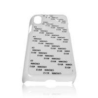 Чехол для IPhone X пластик белый со вставкой