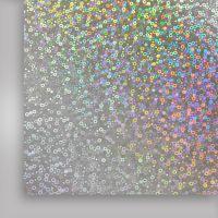 Фольга термотрансферная, серебряный узор , 500мм x 50м