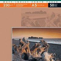 Фотобумага Lomond, 230 г/м2 А5 (210x148 мм) односторонняя матовая, 50 л.