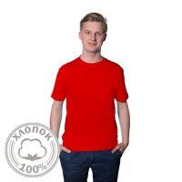 Футболка мужская, материал хлопок Премиум, цвет красный, размер 42 (XS)