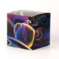 Коробка под кружку фиолетовая