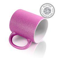 Кружка керамика пурпурная перламутровая 330мл