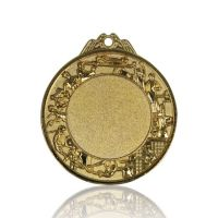 Медаль Zj-M756 золото D70мм, D вкладыша 42мм