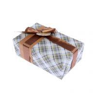 """Набор для упаковки подарка """"Клетка"""" (бумага упаковочная+декор)"""