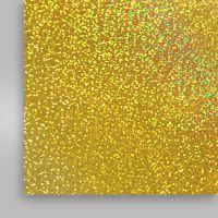 Пленка термотрансферная, голографическая, золотая, 500мм x 50м