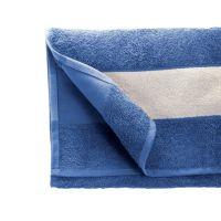 Полотенце махровое 30*70 см, 400 г/м2, хлопок, с 1 полем под сублимацию, синий (293)