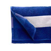 Полотенце махровое 50*100 см, 400 г/м2, хлопок, с 1 полем под сублимацию, синий (19-4053TPX)