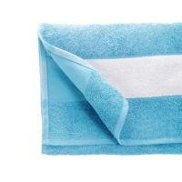 Полотенце махровое 50*90 см, 350 г/м2, хлопок, с 1 полем под сублимацию, голубой (609)