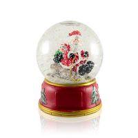 Шар водяной Дед Мороз с пингвином с хлопьями снежинки музыкальный 102x102x135мм D100