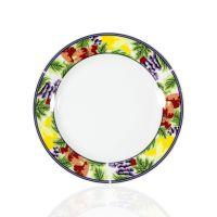 Тарелка для сублимации керамика белая с орнаментом клубника 200мм
